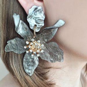 Eden Acrylic Flower Petal Earrings